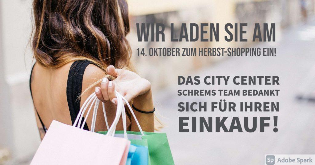 14. Oktober Herbst-Shopping!