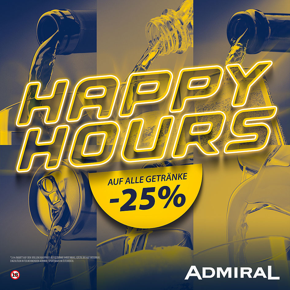 Happy Hours bei ADMIRAL!